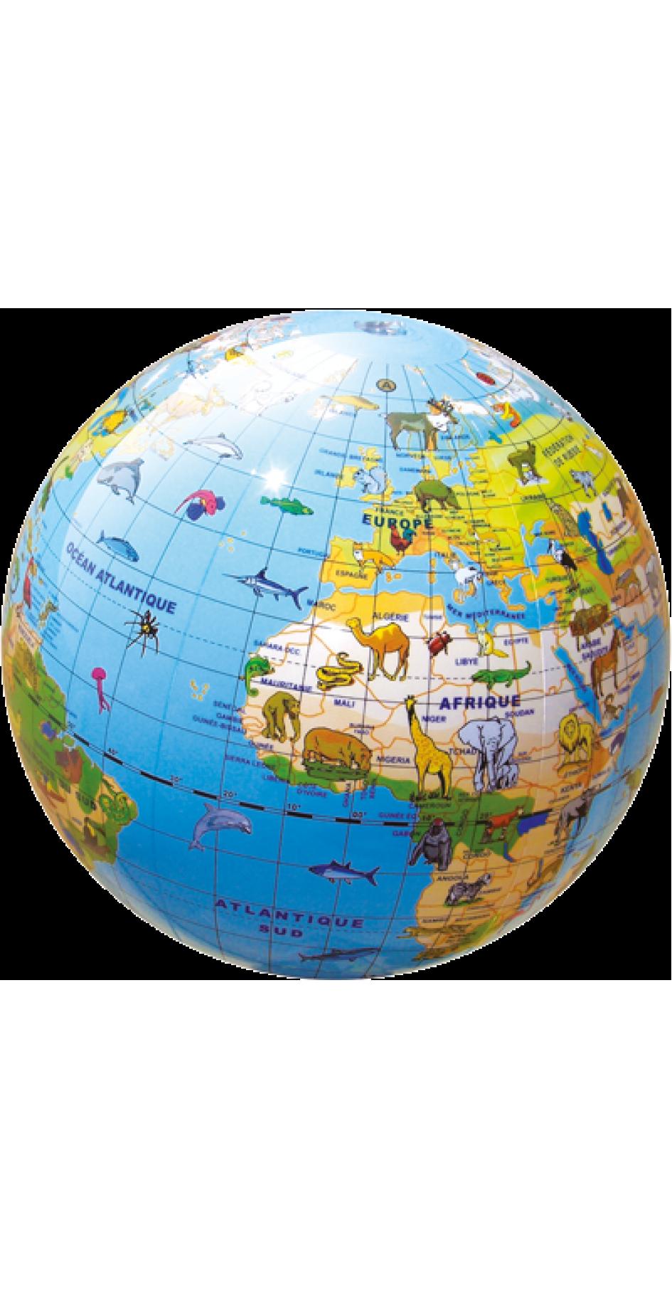 Inflatable Globe Animals 30cm