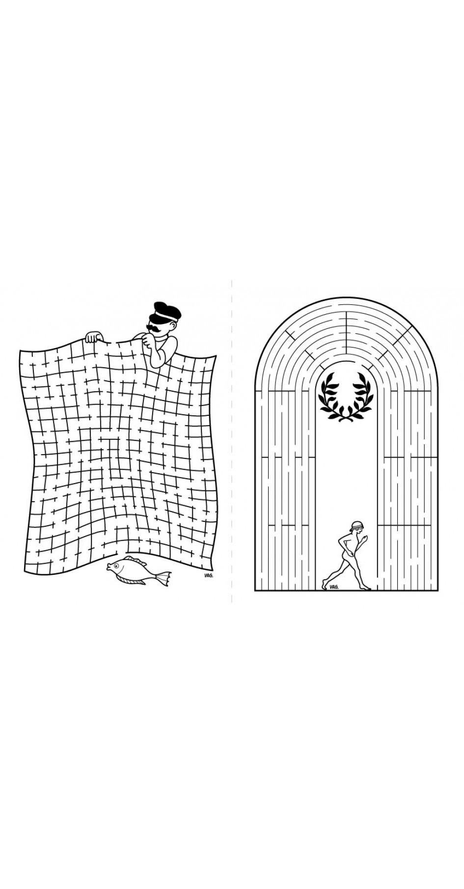 Greek Labyrinths, activities book