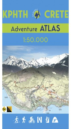Crete Adventure Atlas in scale 1:50 000 (E4)