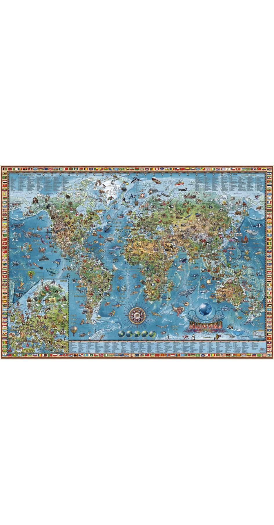 Rayworld Amazing Map 137 x 97 cm