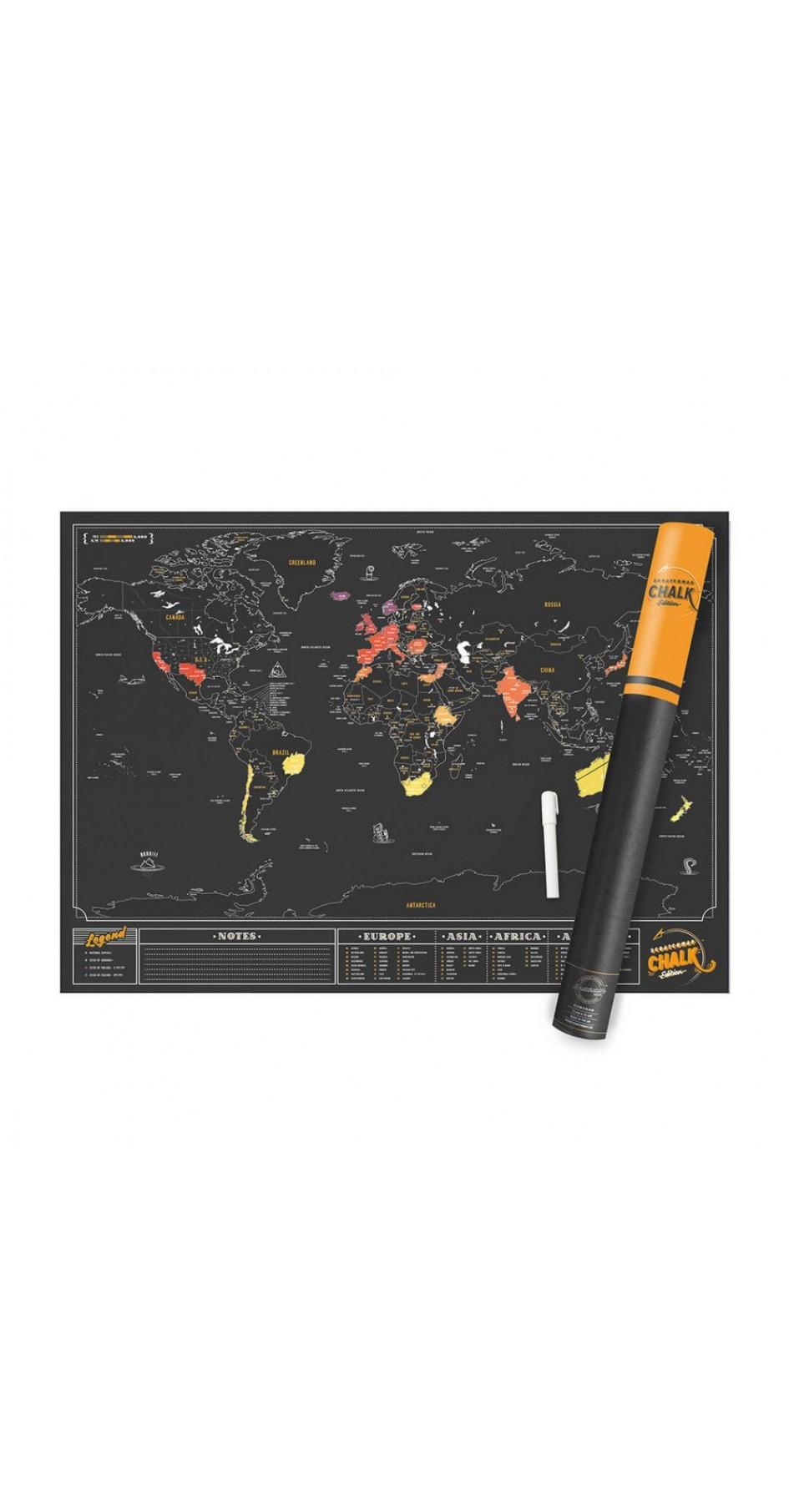 Scratch Map - Chalk Edition