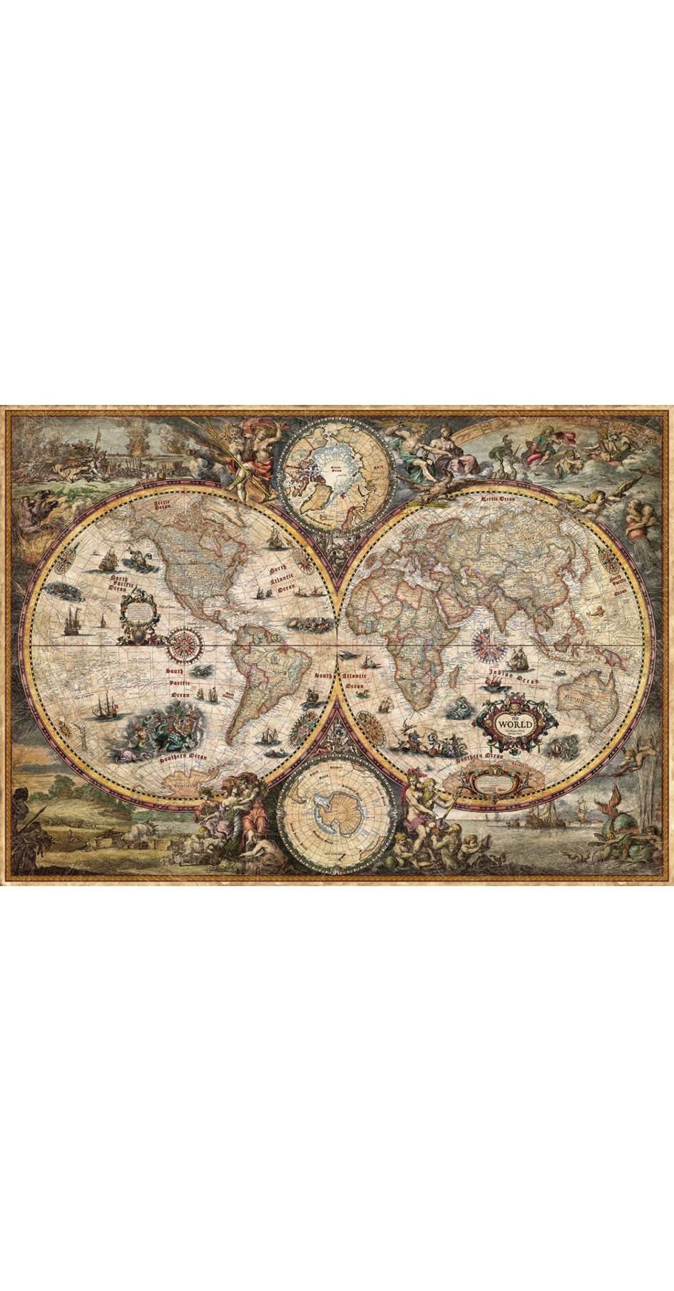 Rayworld Vintage World Map 136 x 96 cm