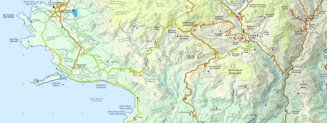 Crete in scale 1:50 000 inside Avenza pdf maps app