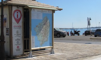 Signposting the path network on Anavasi map in Naxos