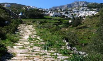 Hiking in Paros footpath 1 from Paroikia to Prodromos