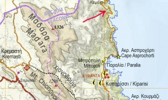 Map correction in Peloponnese map