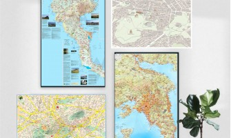 Custom Wall maps for decoration and planning