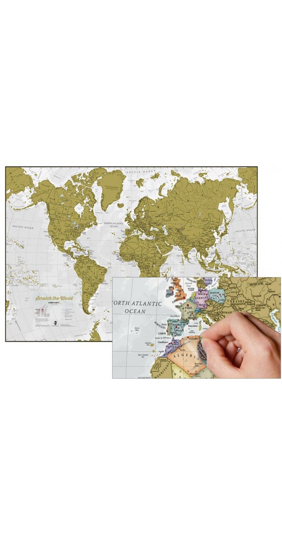 Scratch the World® World Map