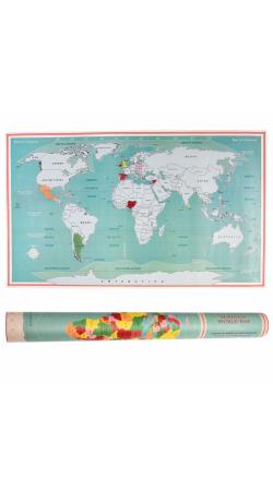 SCRATCH World Map - Rex London