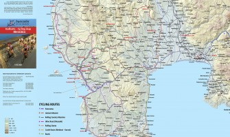 Cycling map for Messinia
