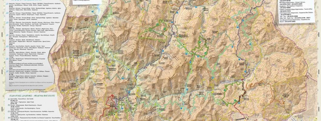 Anavasi Map of outdoor activities in Evritania