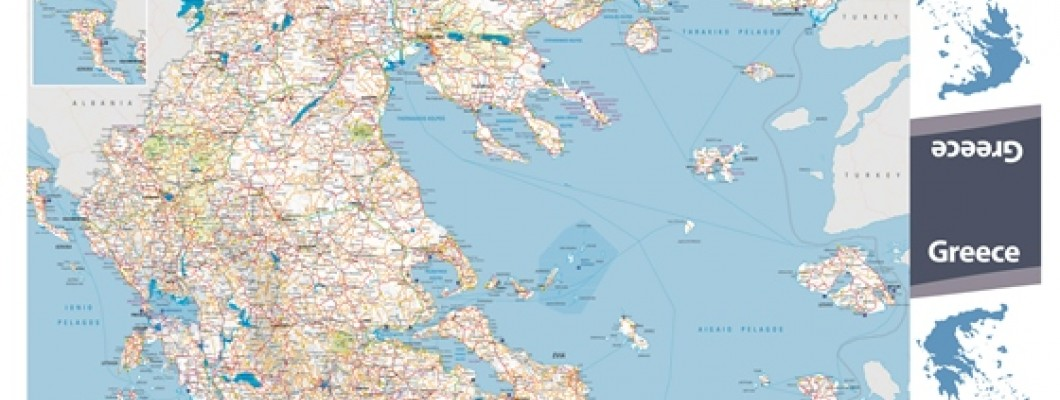 Map of Greece for Greek National Tourism Organisation