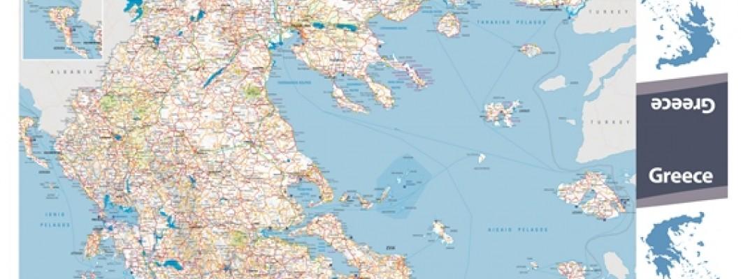 Map of Greece for Greek National Tourism Organisation