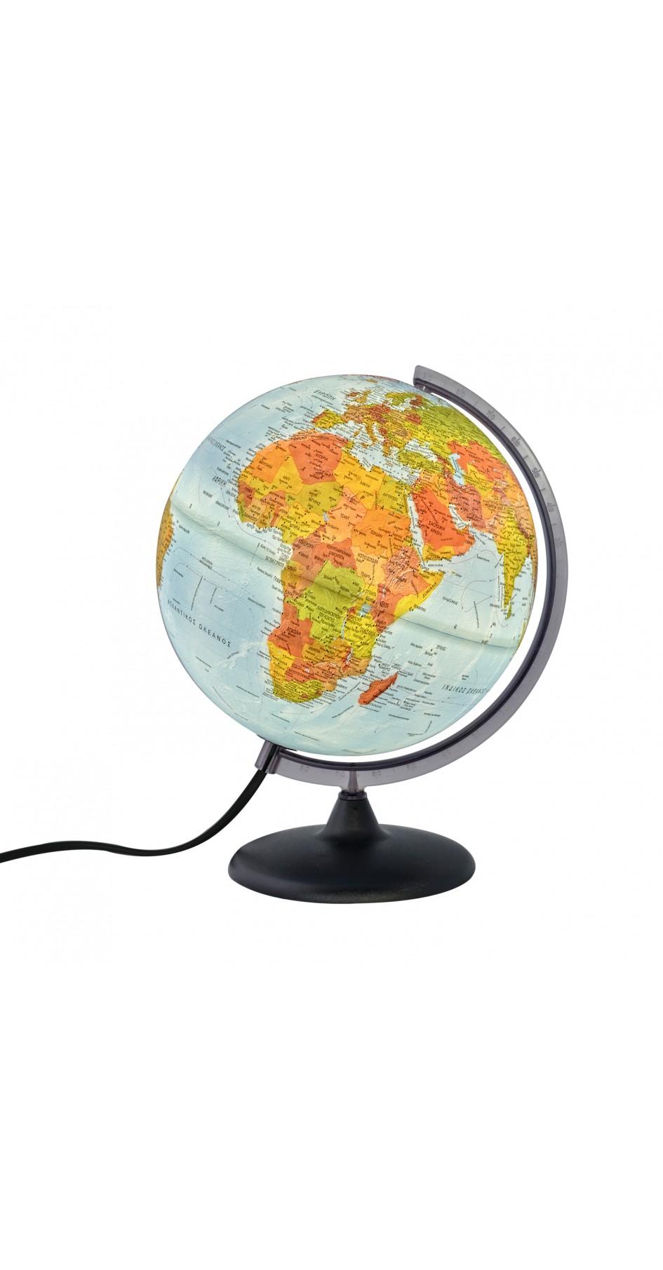 Globe Relief 30cm 3D in Greek