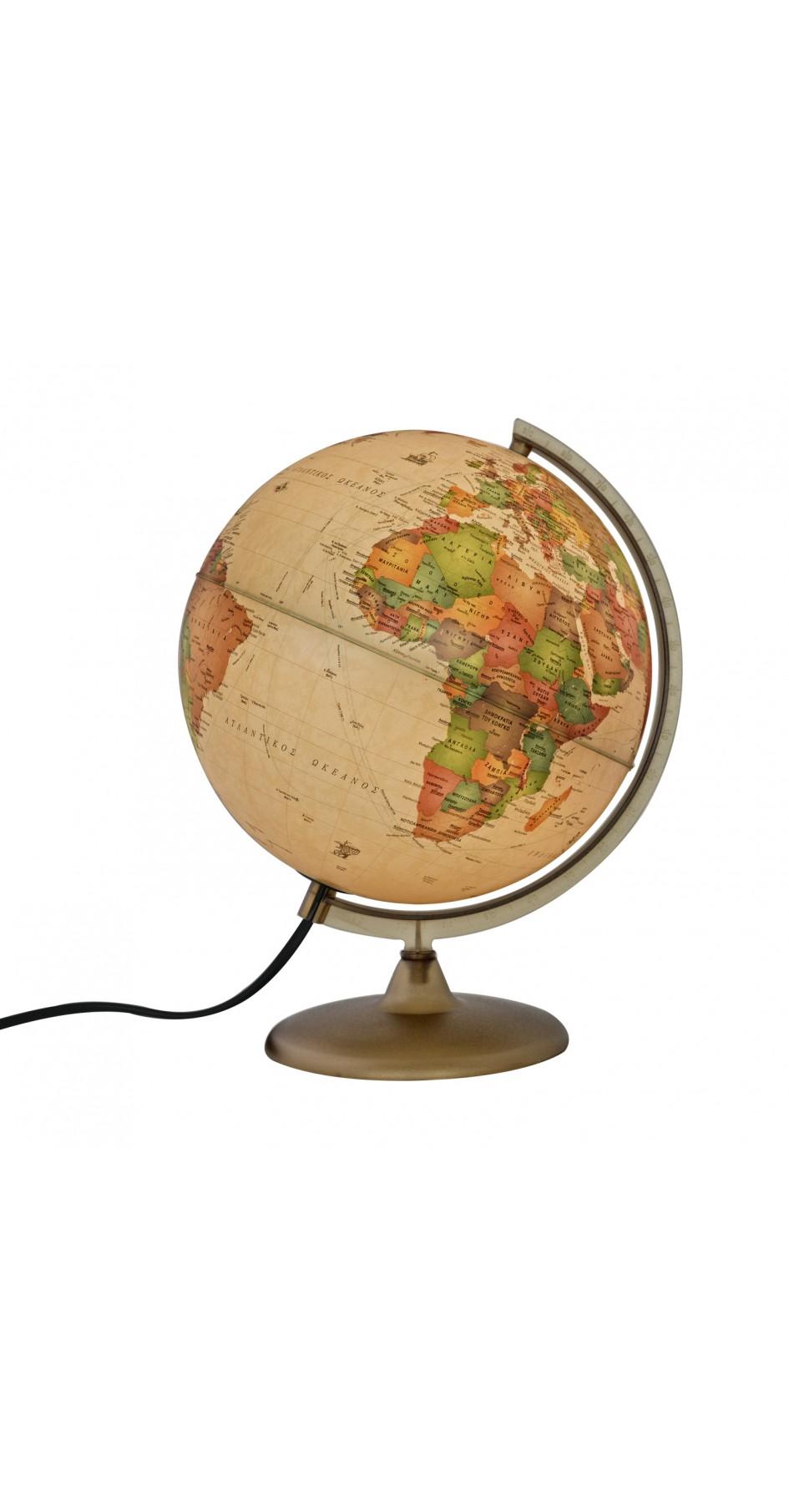 Globe Antique 30 cm in Greek