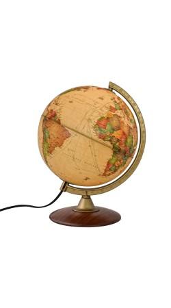 Globe Antique 25 cm wooden base in Greek