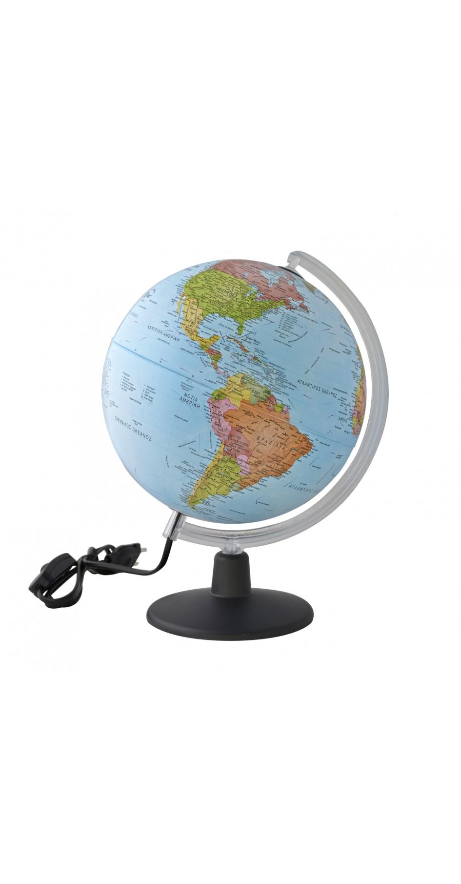 Globe political 30 cm in Greek