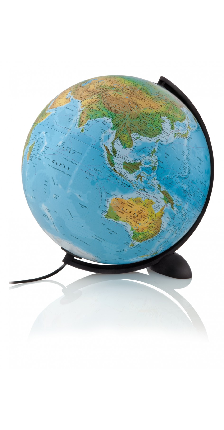 Ellipse globe 30 cm physical / political (blue)