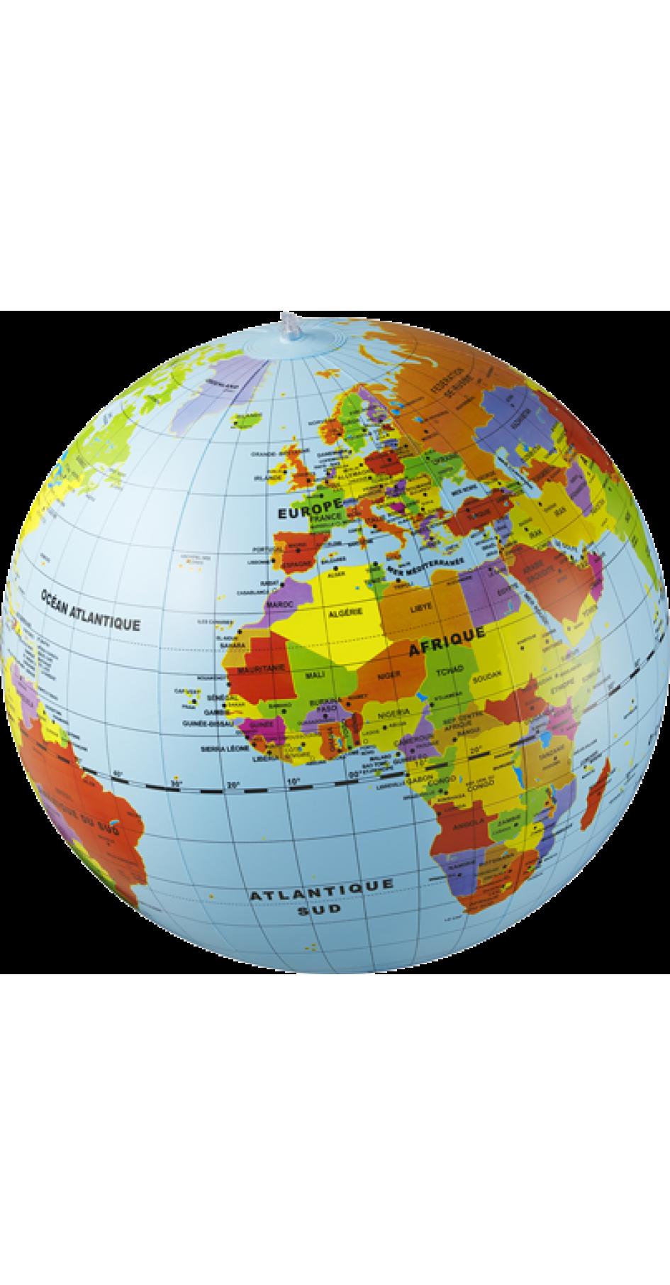 Inflatable Globe Political 50cm
