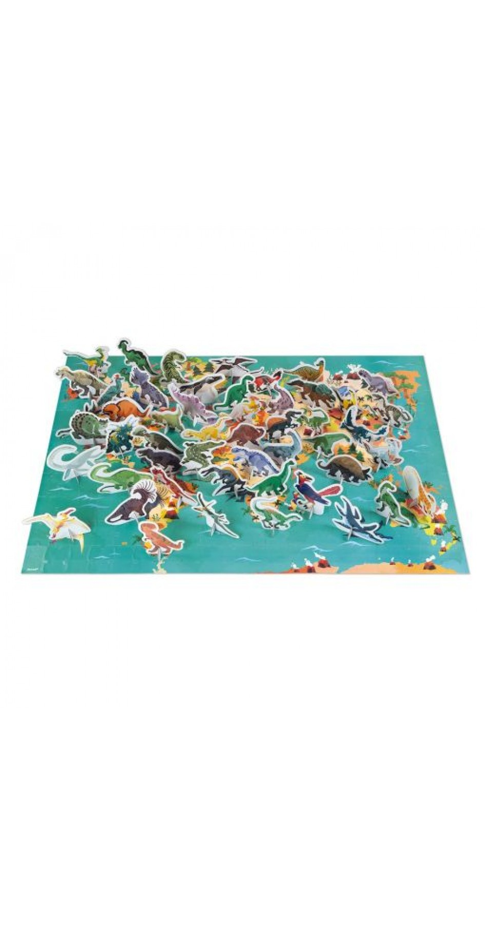 Educational Puzzle The Dinosaurs (200 pieces)