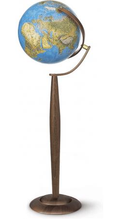 Globe blue physical / political 37 cm floor standing globe Sylvia
