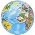 Political Globe soft ball 7.5 cm