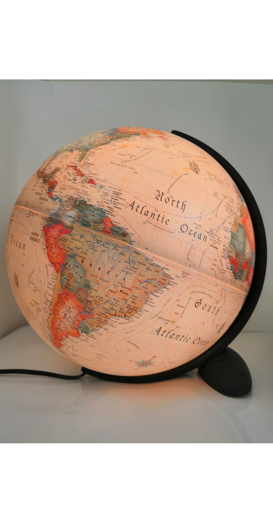 Ellipse globe 30 cm antique