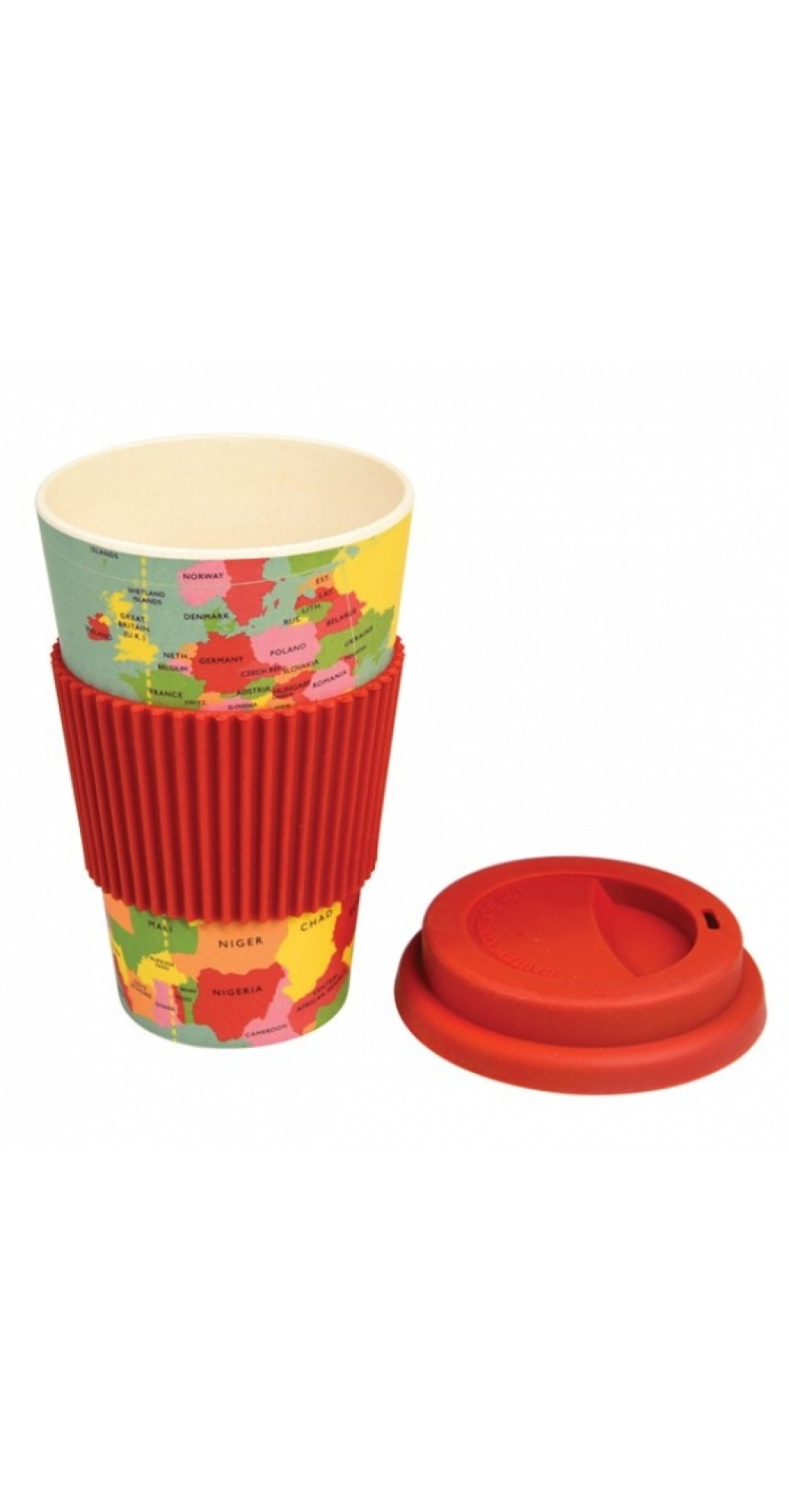 Bamboo Cup with map