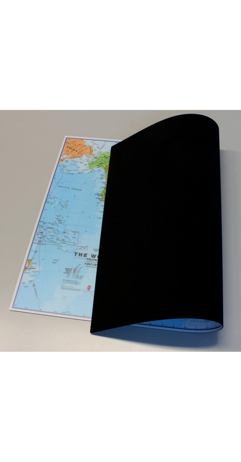 Mousepad World map 63x42 cm