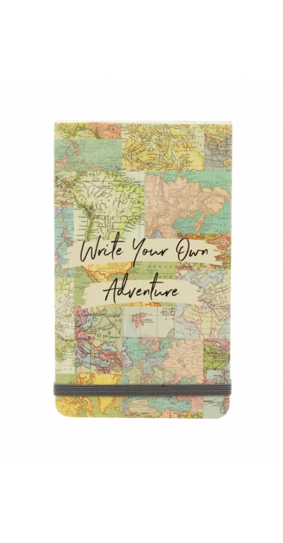 Vintage Map Collage Flip Notebook