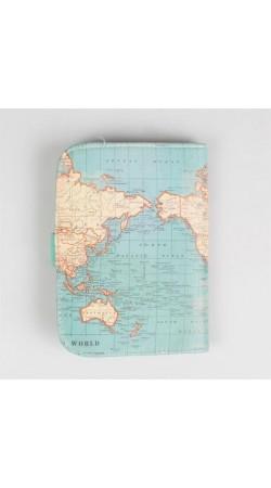 Vintage Map Passport Holder