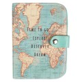 Vintage Map Passport Holder