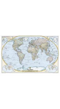 NGS 125th Anniversary World Map 117cm x 77cm