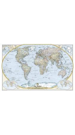 NG 125th Anniversary World Map 117cm x 77cm