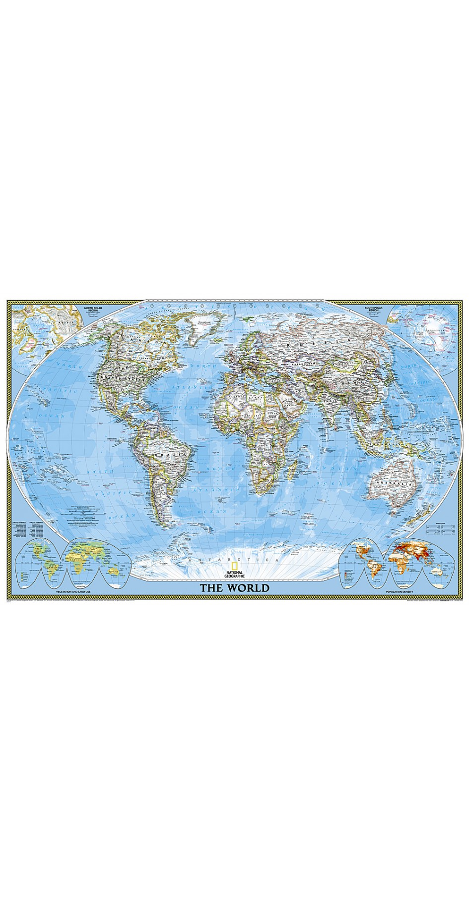 NG World Classic Map [Poster Size] 91cm x 61cm
