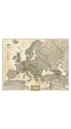 NG Europe Executive Map Enlarged 117cm x 91cm