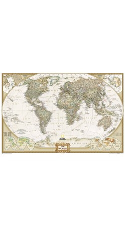 NG World Executice Political Map Enlarged 186cm x 125cm