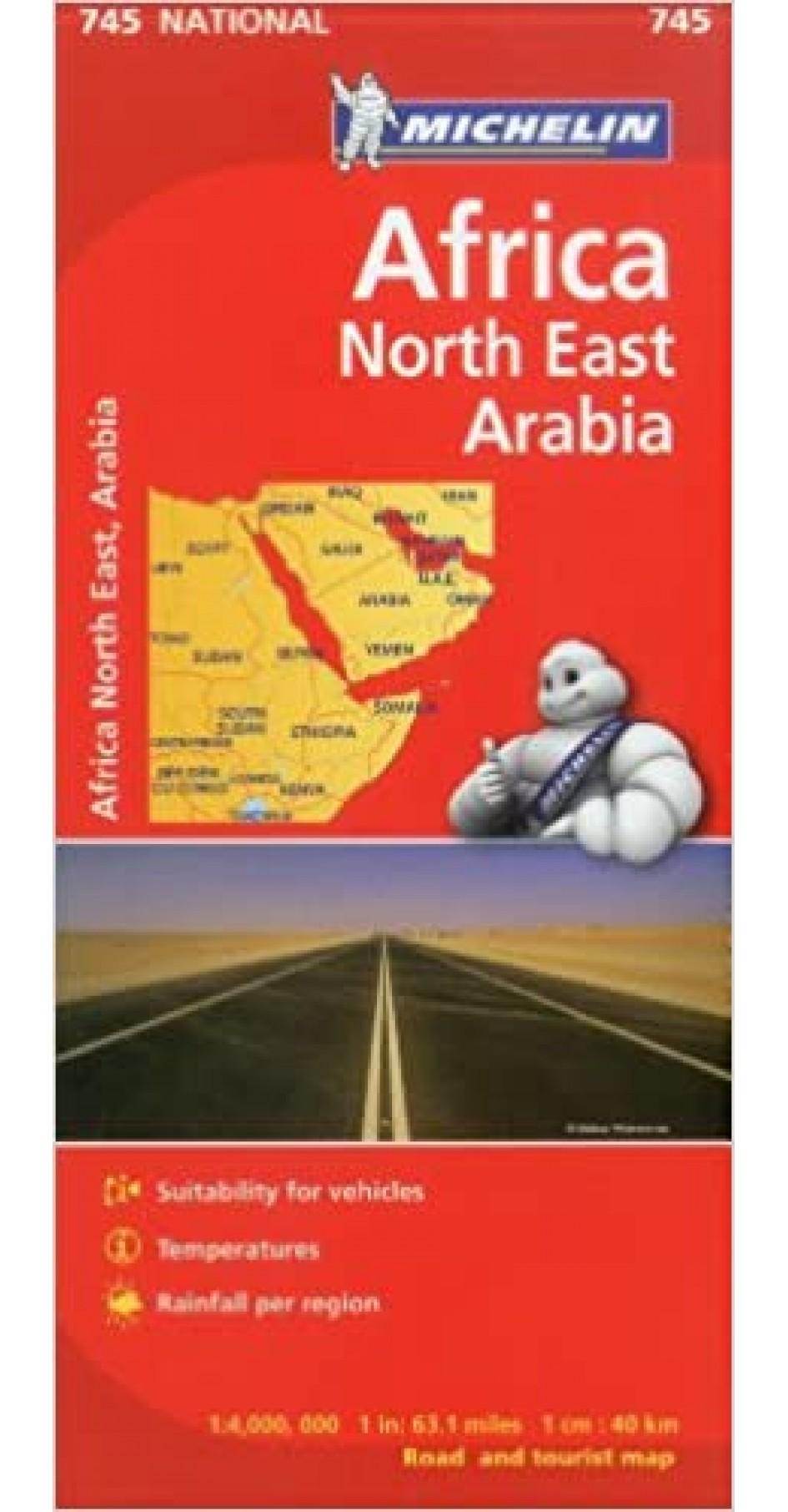 Michelin Map Africa Northeast & Arabia 745
