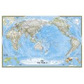 NG World Classic, Pacific Centered Map 117cm x 77cm