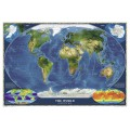 NG World Satellite Map 82cm x 51cm