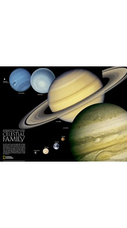 NG The Solar System Map 62cm x 46cm
