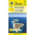 Cyclades - Argosaronic islands • touring map 1:200 000