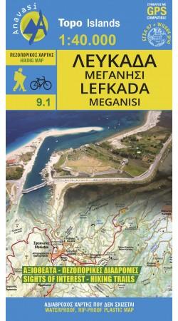 Lefkada  • Hiking map 1:40.000
