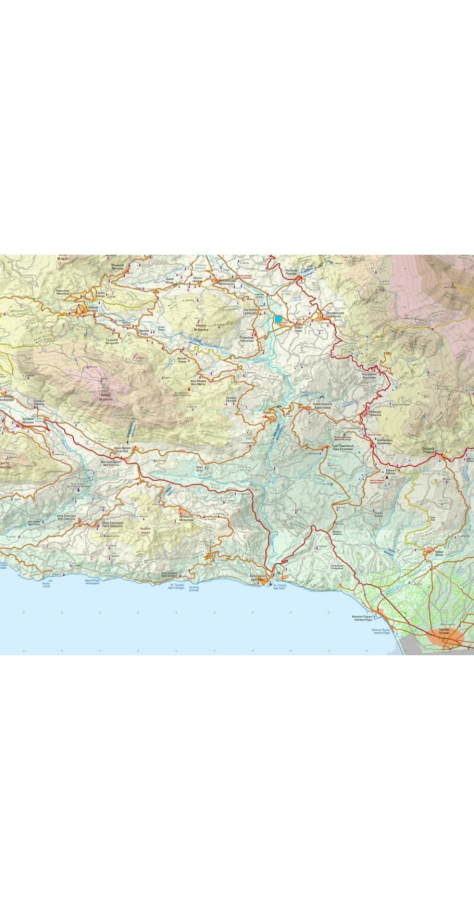 Crete Adventure Atlas in scale 1:50000 (E4)