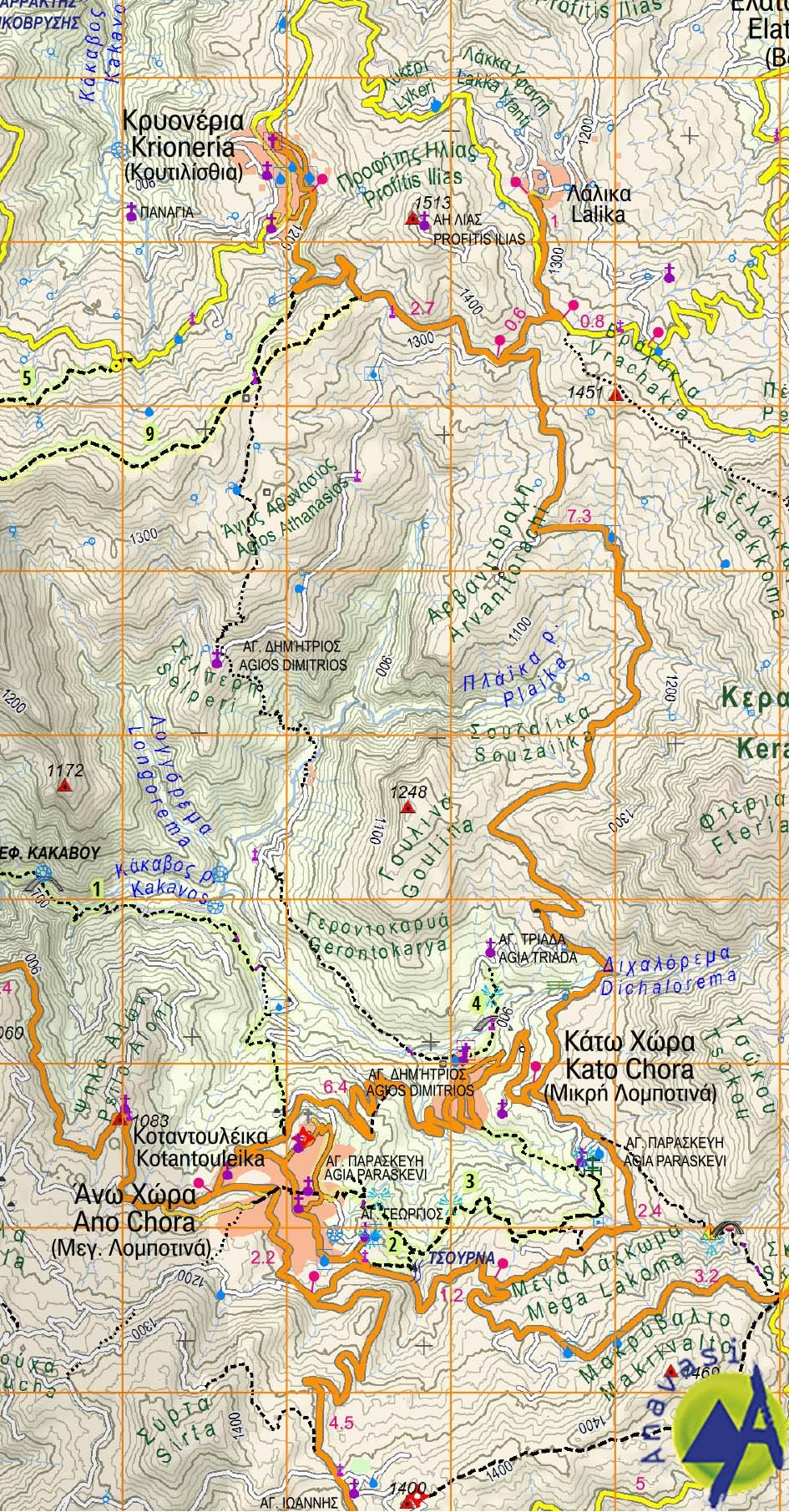 Nafpaktos - Panaitoliko - Karpenisi (Orini Nafpaktia / South Evritania) • Hiking map 1:50 000
