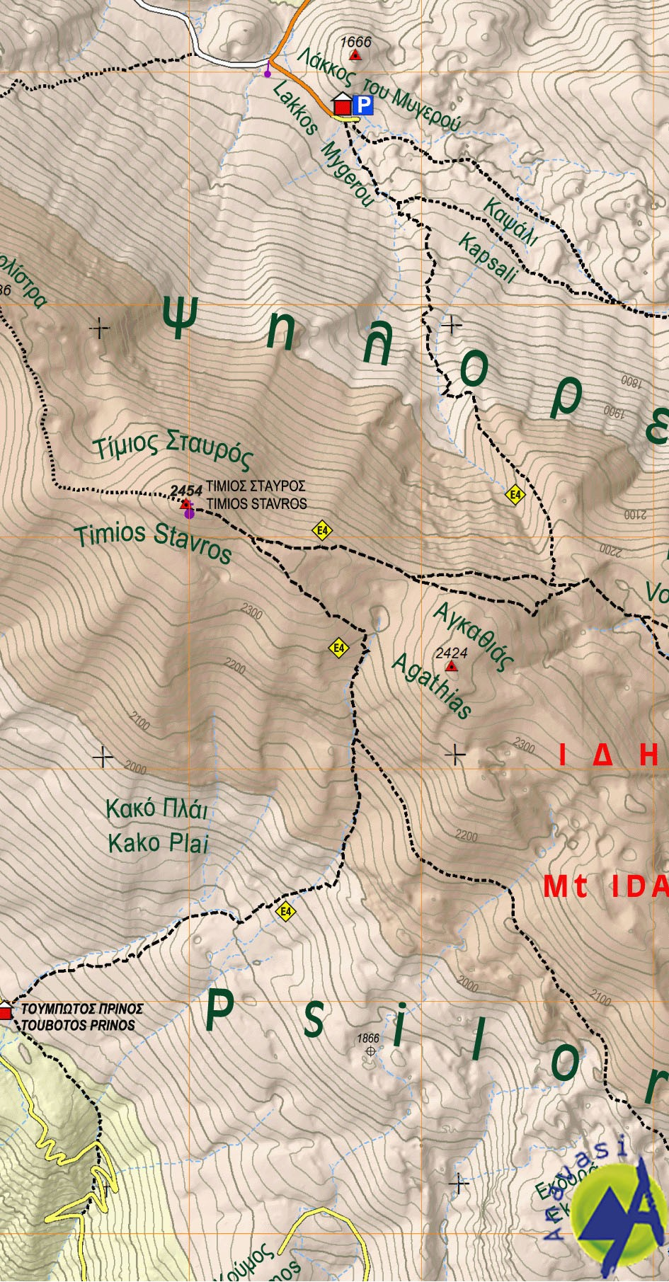 Ida (Psiloritis) • Hiking map 1:30.000