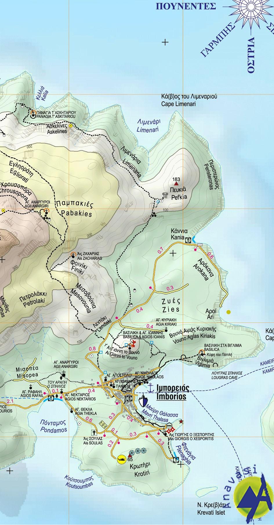 Chalki • hiking map 1:20000