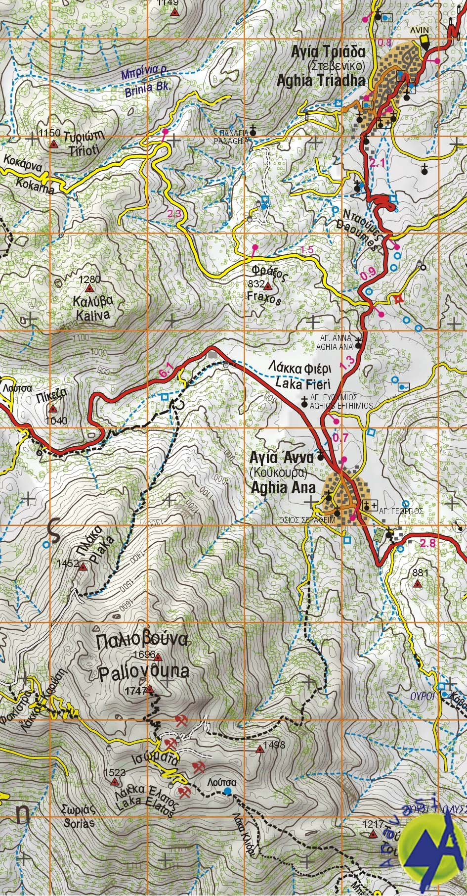 Elikon • Hiking map 1:50.000