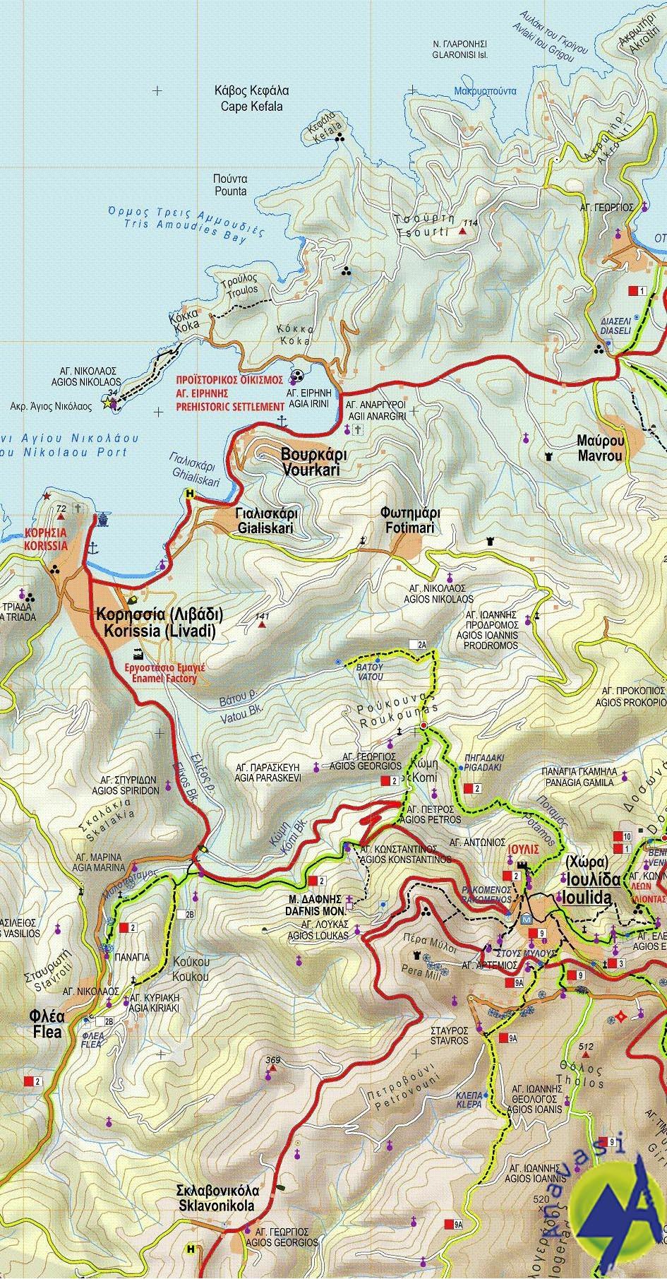 Kea (Tzia) • Hiking map 1:27.000