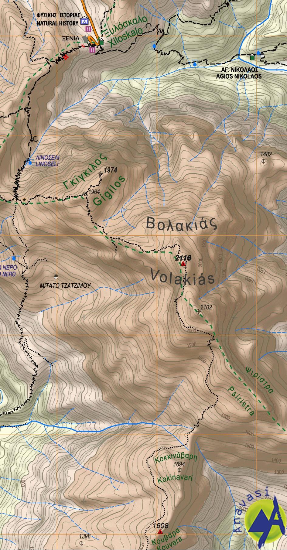 Samaria - Sougia - Paliochora • Hiking map 1:25.000